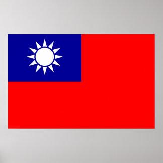 Poster con la bandera de Taiwán