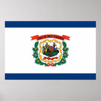 Poster con la bandera de Virginia Occidental, los