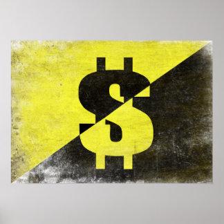 Poster con la bandera fresca del Anarcho-Capitalis
