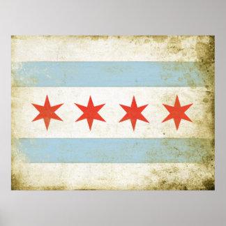 Poster con la impresión apenada de la bandera de C