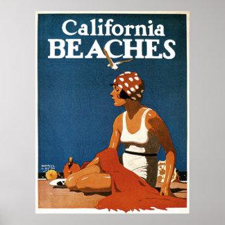 Poster con la impresión de California del vintage