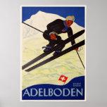Poster con la impresión de la estación de esquí de