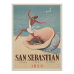 Poster con la impresión de la publicidad de San Se