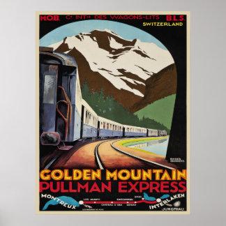 Poster con la impresión de las estaciones de esquí