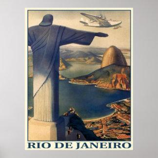 Poster con la impresión de Río de Janeiro del vint