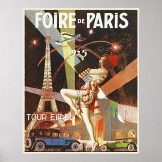Poster con la impresión del art déco de París a pa