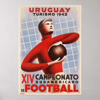 Poster con la impresión del fútbol de Copa de Amér