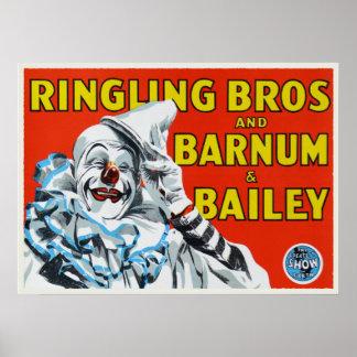 Poster con la impresión del payaso de circo del vi