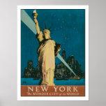 Poster con la impresión del poster de Nueva York d