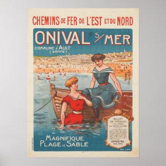 Poster con la impresión del poster del vintage de