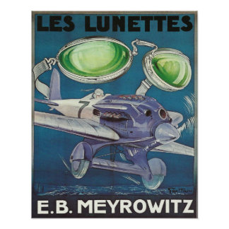 Poster con la impresión del vintage de las lunetas