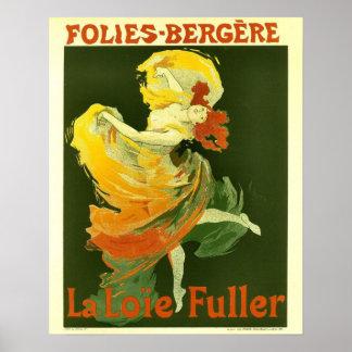 Poster con la impresión elegante del baile del vin
