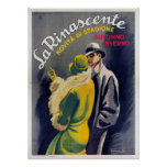 Poster con la impresión italiana de la moda del vi