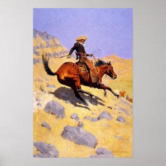 Poster con la pintura de Federico Remington