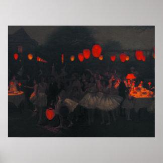 Poster con la pintura de Gotch del tonelero de Tho