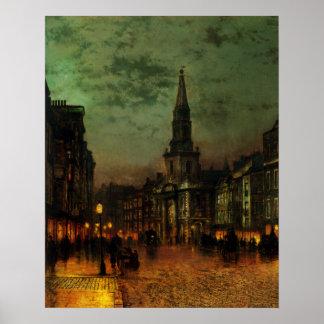 Poster con la pintura de Juan Atkins Grimshaw