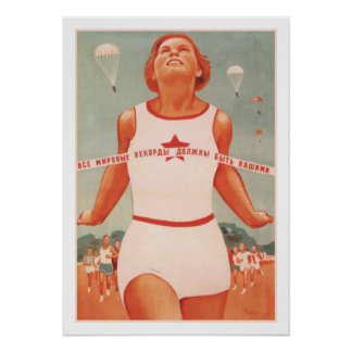 Poster con la propaganda de Unión Soviética del vi
