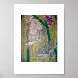 Poster con las ilustraciones abstractas del collag
