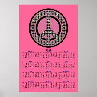 Poster CON LENTEJUELAS del calendario del ROSA 201