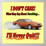 """Poster con """"mí no cuido lo que dicen… """""""