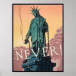 Poster con propaganda americana de WWII