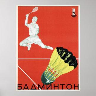 Poster con propaganda del deporte de URSS del vint