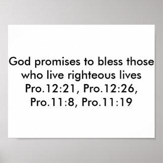 Poster con versos de la biblia