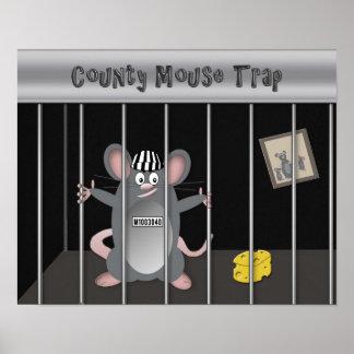 Poster - concepto - trampa del ratón (fondo negro)