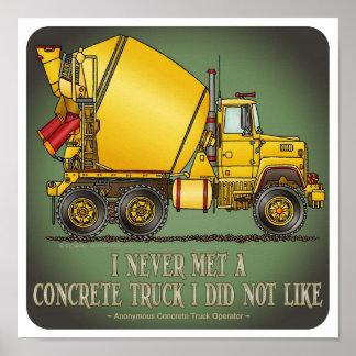 Poster concreto de la cita del operador de camión