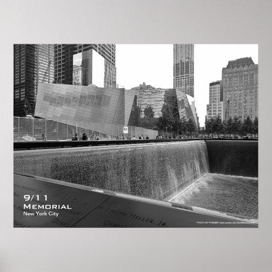 Poster conmemorativo 24x18 BW4 de 911 NYC Póster