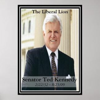 Poster conmemorativo de Edward Kennedy