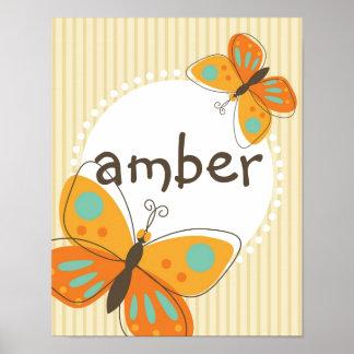 Poster conocido de encargo del niño de la mariposa