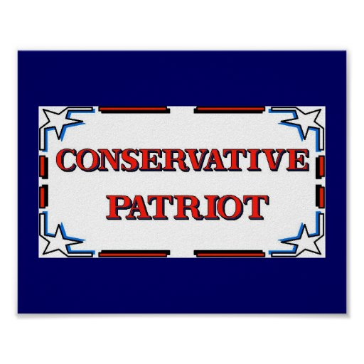 Poster conservador del patriota