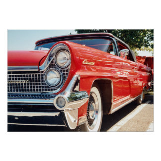 Poster convertible continental 1959 de Lincoln Póster