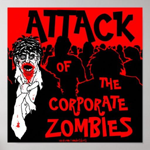 Poster corporativo de los zombis