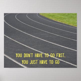 Poster corriente de motivación de los deportes póster