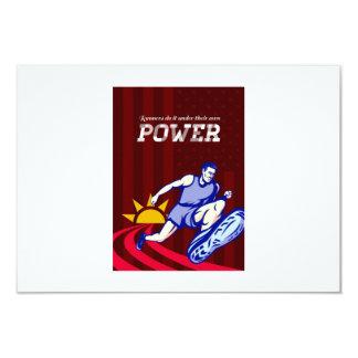 Poster corriente del poder del corredor anuncio