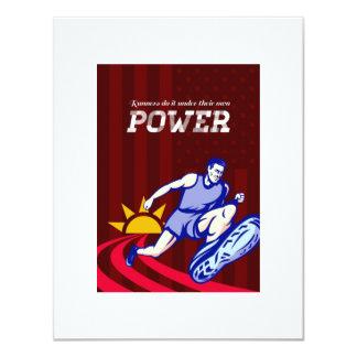 Poster corriente del poder del corredor invitación personalizada