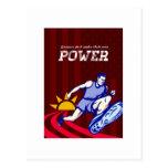 Poster corriente del poder del corredor postal