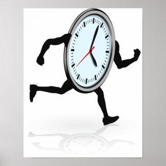 Poster corriente del reloj