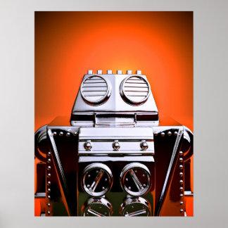 Poster cosechado retro del robot 04 del juguete