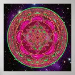 Poster cósmico de la mandala de Lakshmi