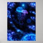 Poster cósmico de las medusas