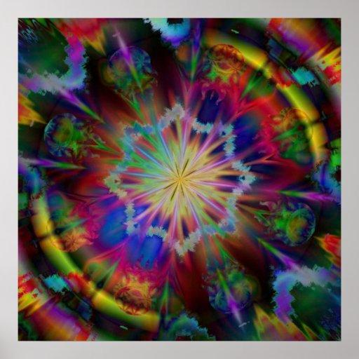 Poster cósmico del caleidoscopio