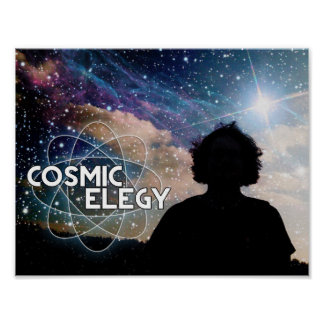Poster cósmico del horizonte póster