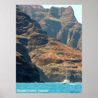 Poster - costa costa de Hawaii