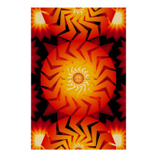 Poster: Crazy Psychedelic Patterns: Vector Art Poster