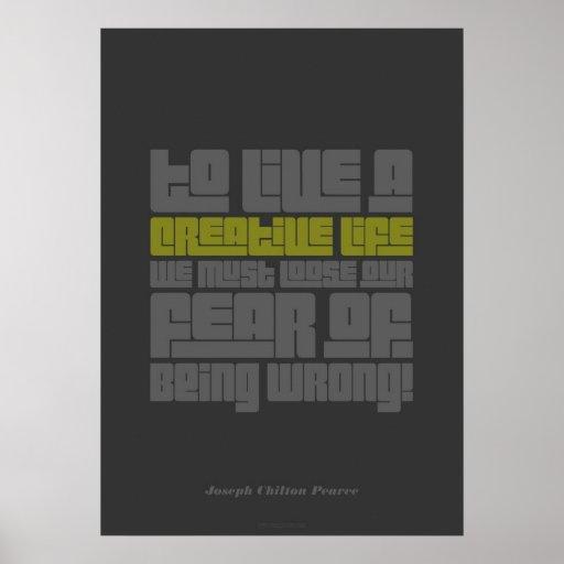 Poster creativo de la vida