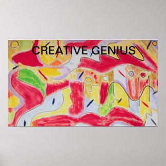 Poster creativo del genio