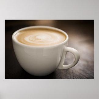Poster cremoso del café de Latte
